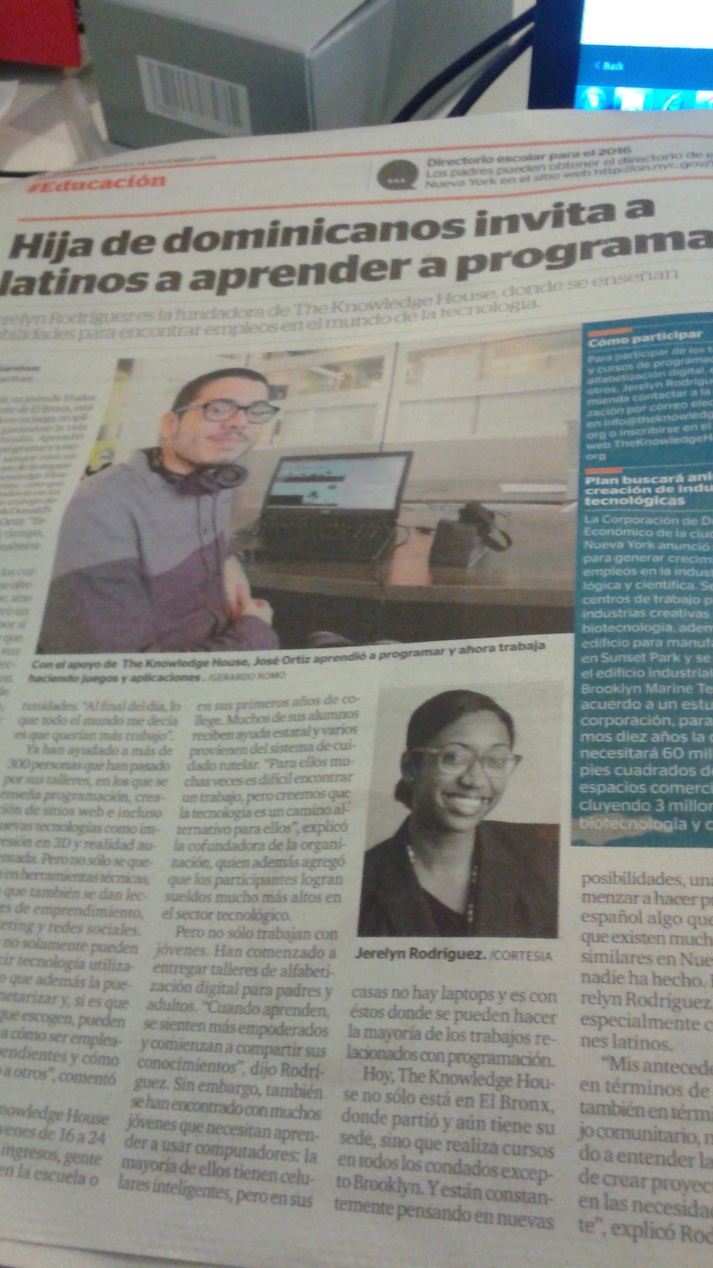 Annual Innovation Series/TKH in El Diario